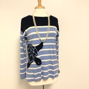 TALBOTS Super Cute Sea Turtle Sweater Top 🐢🐢🐢